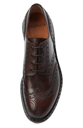 Мужские кожаные дерби PREMIATA темно-коричневого цвета, арт. 31281/C0RTINA | Фото 5
