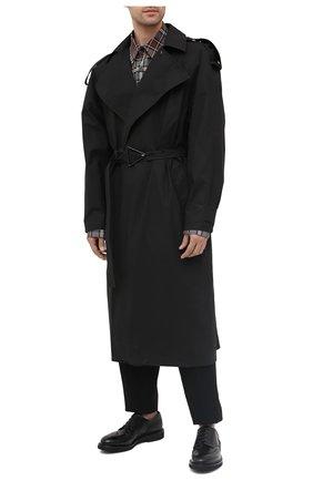 Мужской кожаные дерби PREMIATA черного цвета, арт. 31281/C0RTINA | Фото 2