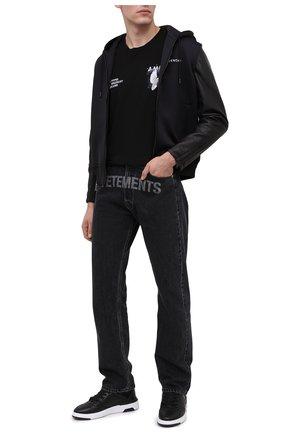 Мужские кожаные кеды wing mid GIVENCHY черного цвета, арт. BH002JH0KP | Фото 2