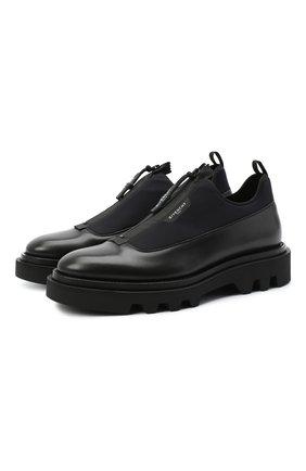 Мужские комбинированные ботинки combat GIVENCHY черного цвета, арт. BH1029H0NN | Фото 1