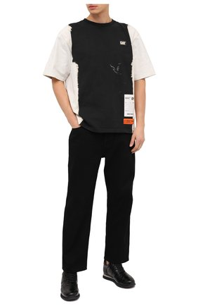 Мужские кожаные кроссовки jimi running GIUSEPPE ZANOTTI DESIGN черного цвета, арт. IU00030/001 | Фото 2