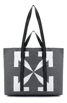 Мужская сумка-шопер OFF-WHITE серого цвета, арт. 0MNA054E20PLA0011001 | Фото 1