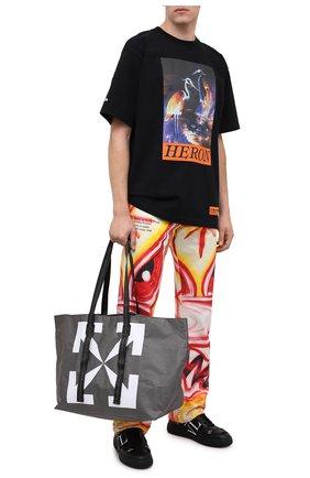 Мужская сумка-шопер OFF-WHITE серого цвета, арт. 0MNA054E20PLA0011001 | Фото 2