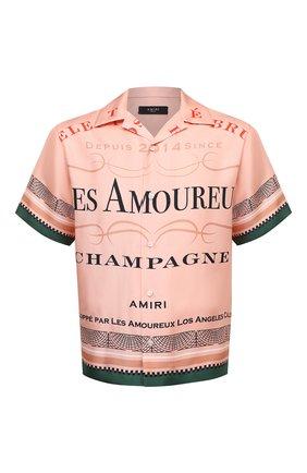 Мужская шелковая рубашка AMIRI розового цвета, арт. F0M06183SE | Фото 1