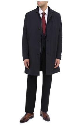 Мужские шерстяные брюки TOM FORD черного цвета, арт. Q31R13/610043 | Фото 2 (Материал подклада: Купро; Материал внешний: Шерсть; Длина (брюки, джинсы): Стандартные; Стили: Классический; Случай: Формальный)