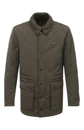Мужская утепленная куртка TOM FORD хаки цвета, арт. BV040/TF0567 | Фото 1