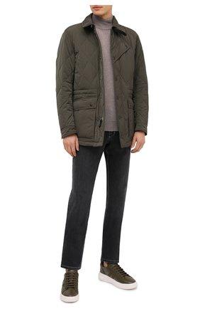 Мужская утепленная куртка TOM FORD хаки цвета, арт. BV040/TF0567 | Фото 2