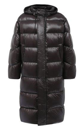 Мужская утепленное пальто DRIES VAN NOTEN темно-коричневого цвета, арт. 202-20535-1178 | Фото 1