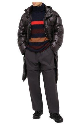 Мужская утепленное пальто DRIES VAN NOTEN темно-коричневого цвета, арт. 202-20535-1178 | Фото 2