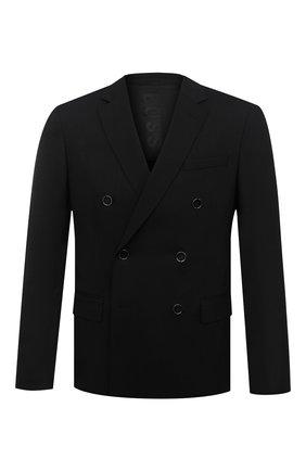 Мужской шерстяной пиджак BOSS черного цвета, арт. 50438587 | Фото 1