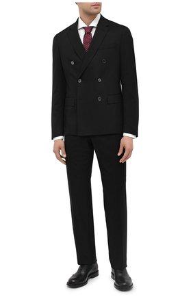 Мужской шерстяной пиджак BOSS черного цвета, арт. 50438587 | Фото 2