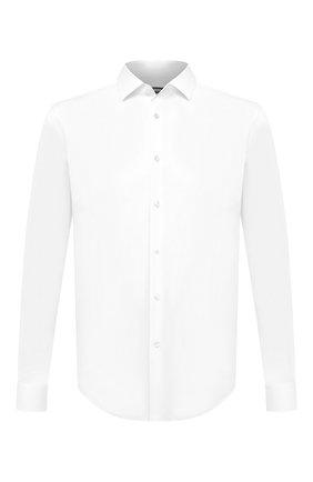 Мужская хлопковая сорочка BOSS белого цвета, арт. 50440257 | Фото 1