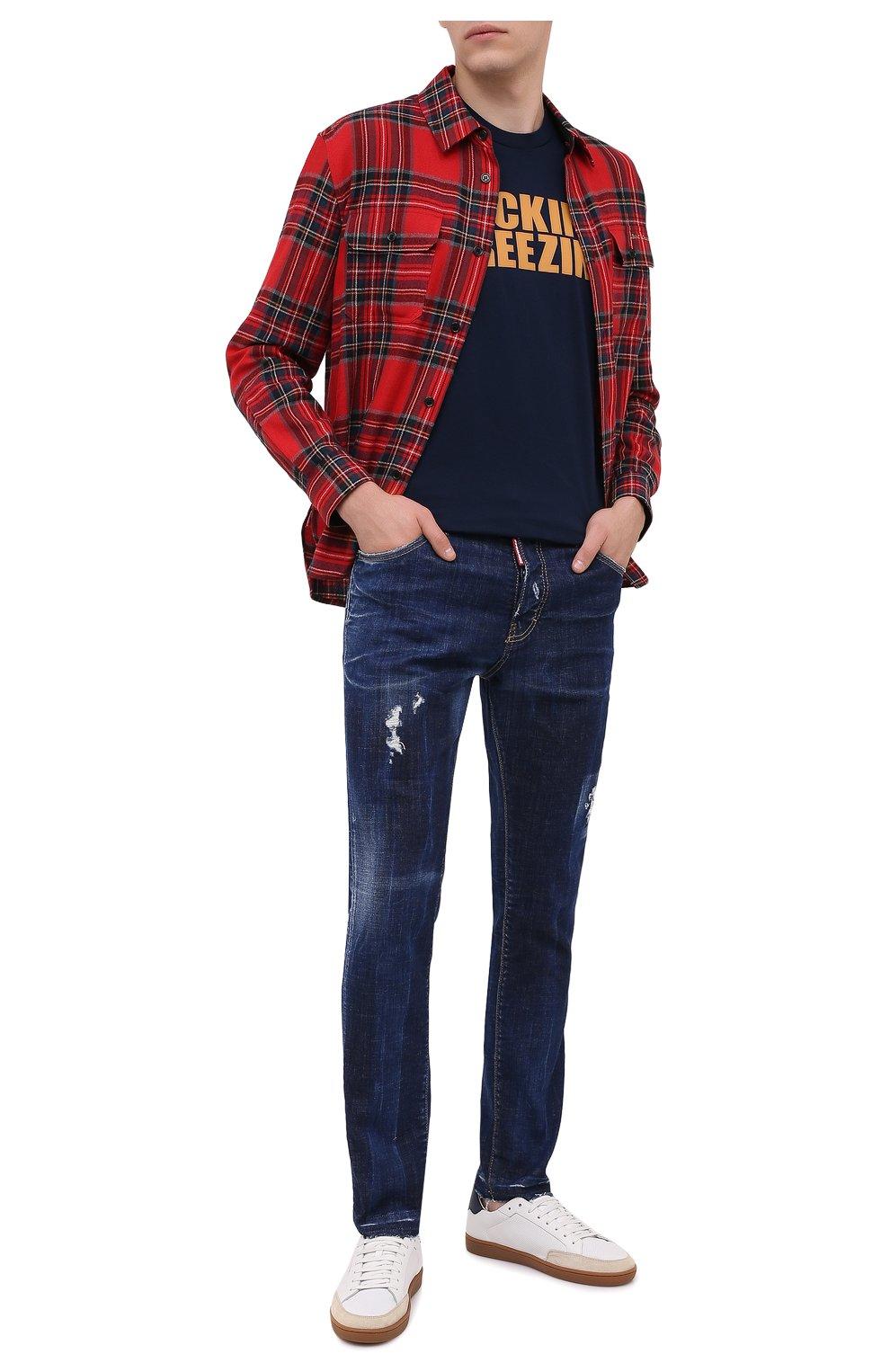 Мужские джинсы DSQUARED2 синего цвета, арт. S71LB0789/S30342   Фото 2