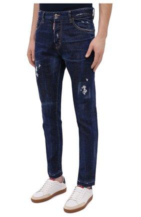 Мужские джинсы DSQUARED2 синего цвета, арт. S71LB0789/S30342   Фото 3
