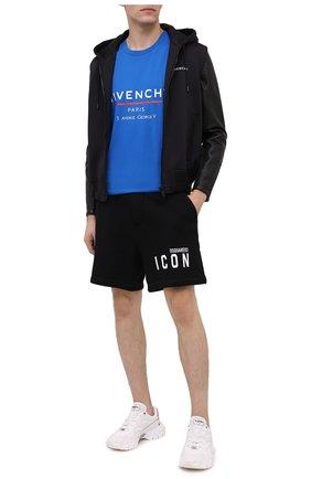 Мужские хлопковые шорты DSQUARED2 черного цвета, арт. S79MU0007/S25042 | Фото 2