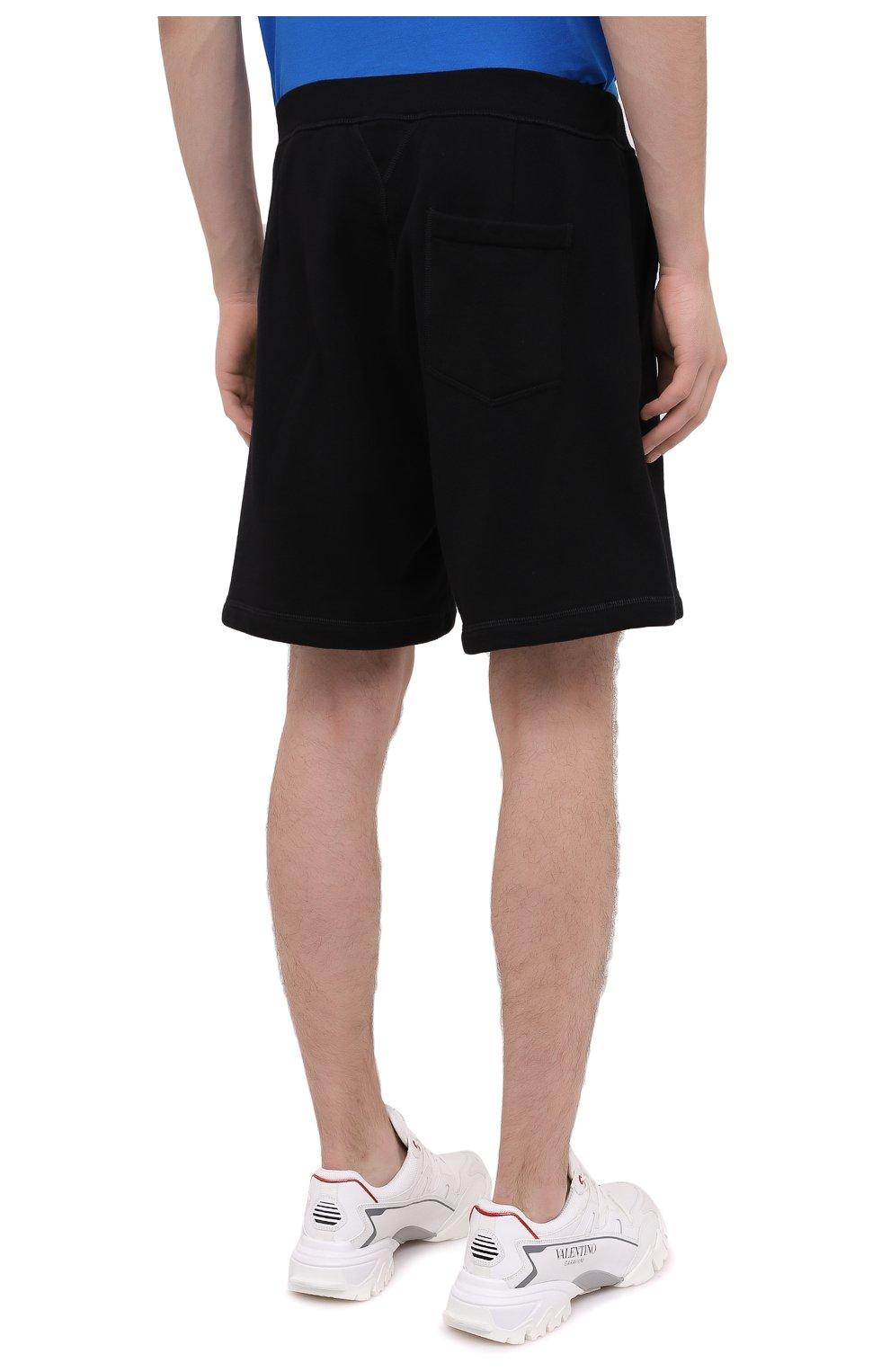 Мужские хлопковые шорты DSQUARED2 черного цвета, арт. S79MU0007/S25042 | Фото 4