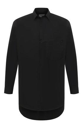 Мужская хлопковая рубашка Y-3 черного цвета, арт. GK4489/M | Фото 1
