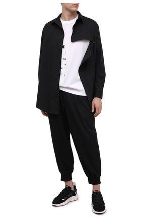 Мужская хлопковая рубашка Y-3 черного цвета, арт. GK4489/M | Фото 2