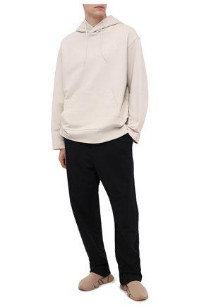 Мужской хлопковые брюки Y-3 черного цвета, арт. FN3390/M | Фото 2