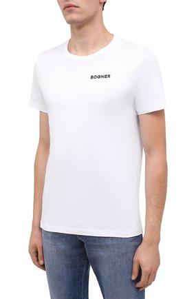 Мужская хлопковая футболка BOGNER белого цвета, арт. 58542724 | Фото 3