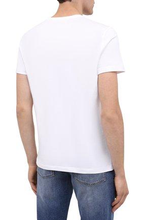 Мужская хлопковая футболка BOGNER белого цвета, арт. 58542724 | Фото 4