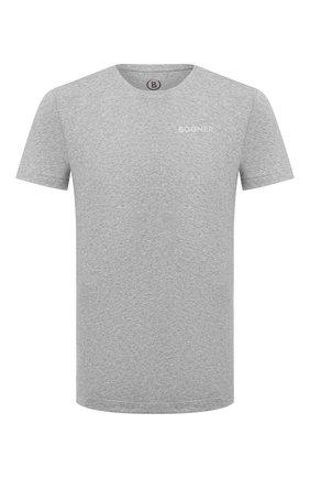 Мужская хлопковая футболка BOGNER серого цвета, арт. 58542724 | Фото 1