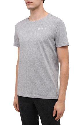 Мужская хлопковая футболка BOGNER серого цвета, арт. 58542724 | Фото 3