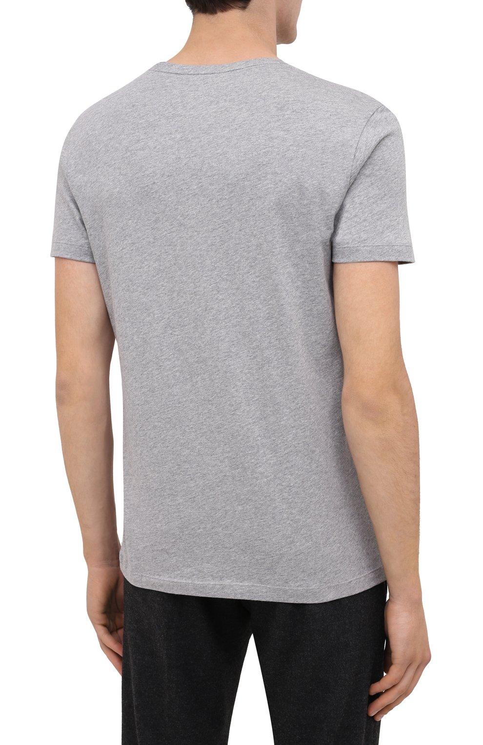 Мужская хлопковая футболка BOGNER серого цвета, арт. 58542724 | Фото 4