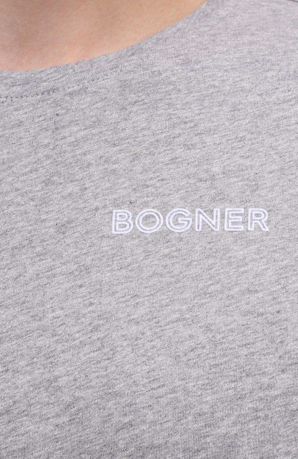 Мужская хлопковая футболка BOGNER серого цвета, арт. 58542724 | Фото 5