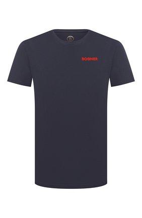 Мужская хлопковая футболка BOGNER темно-синего цвета, арт. 58542724 | Фото 1
