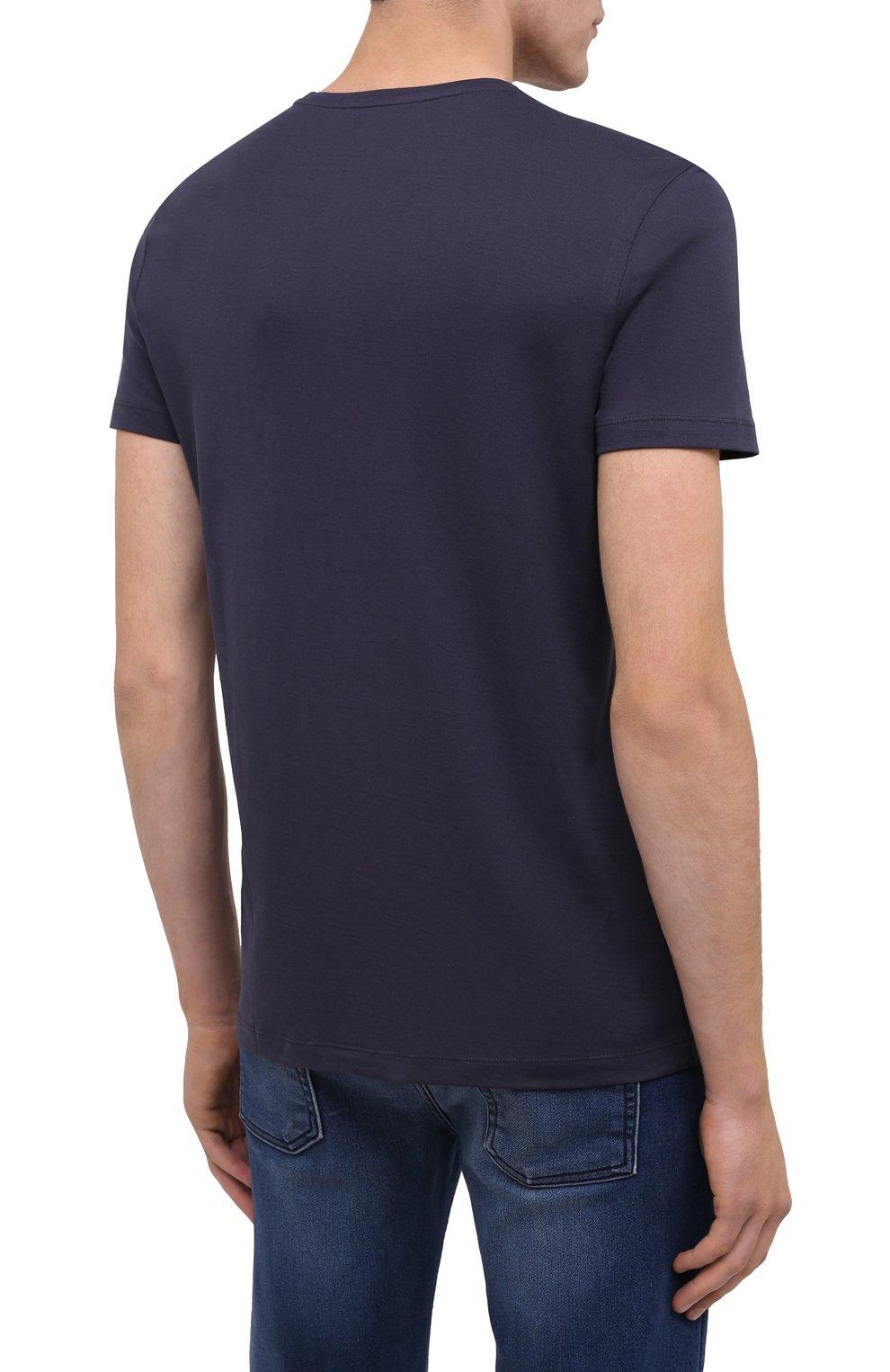 Мужская хлопковая футболка BOGNER темно-синего цвета, арт. 58542724 | Фото 4