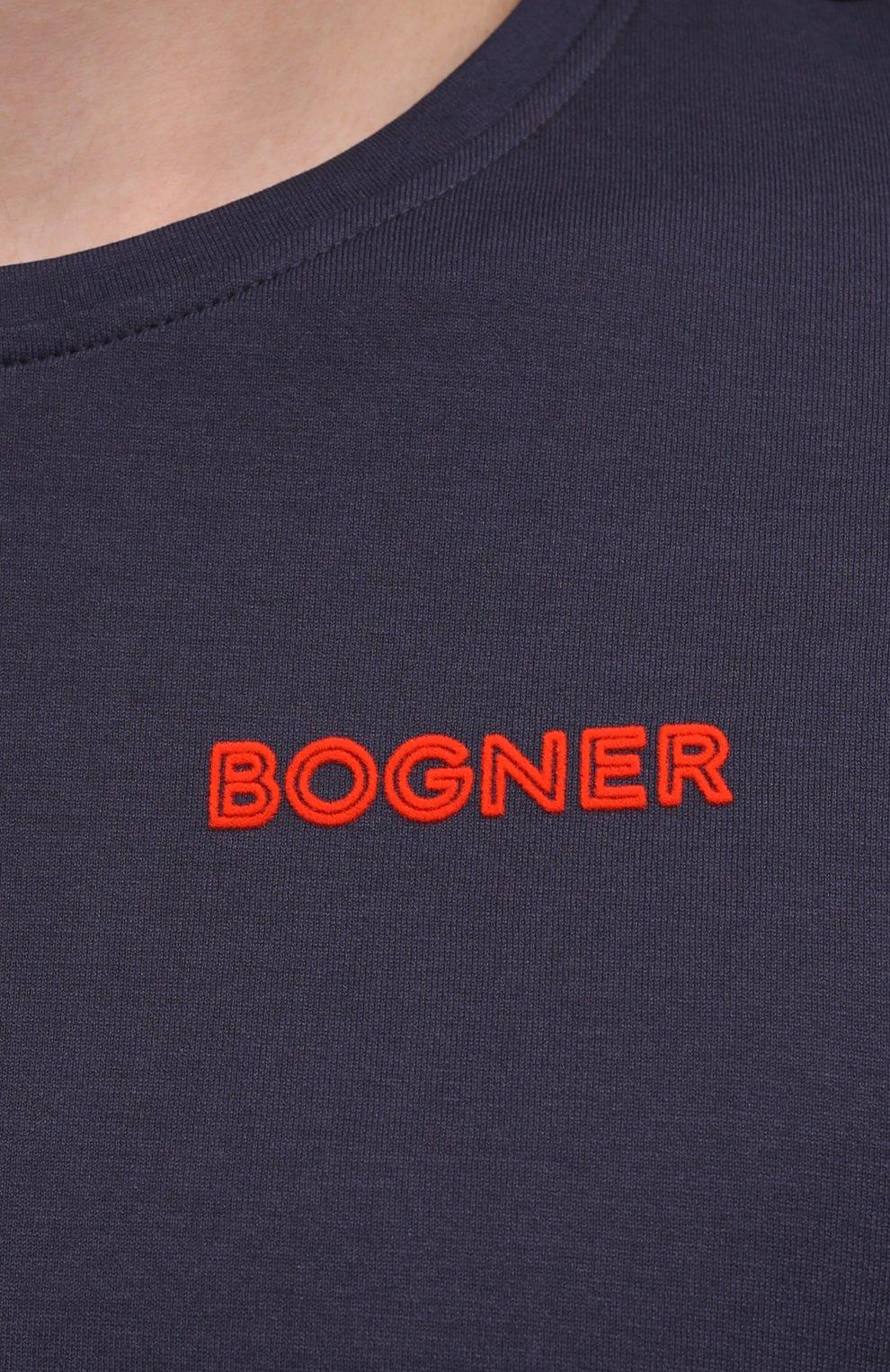 Мужская хлопковая футболка BOGNER темно-синего цвета, арт. 58542724 | Фото 5