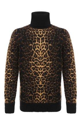 Мужской шерстяной свитер SAINT LAURENT коричневого цвета, арт. 631490/YARC2 | Фото 1