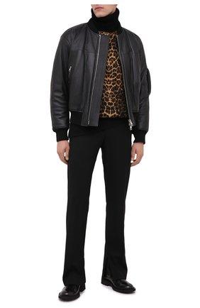 Мужской шерстяной свитер SAINT LAURENT коричневого цвета, арт. 631490/YARC2 | Фото 2