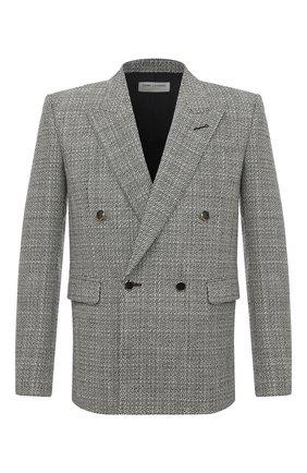 Мужской шерстяной пиджак SAINT LAURENT черно-белого цвета, арт. 630750/Y1B10 | Фото 1