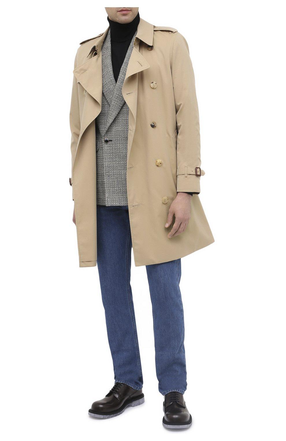 Мужской шерстяной пиджак SAINT LAURENT черно-белого цвета, арт. 630750/Y1B10 | Фото 2