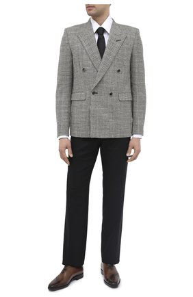 Мужской шерстяной пиджак SAINT LAURENT черно-белого цвета, арт. 630750/Y1B10 | Фото 3