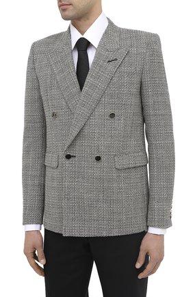 Мужской шерстяной пиджак SAINT LAURENT черно-белого цвета, арт. 630750/Y1B10 | Фото 4