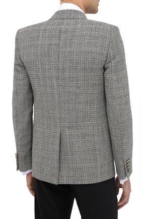 Мужской шерстяной пиджак SAINT LAURENT черно-белого цвета, арт. 630750/Y1B10 | Фото 5