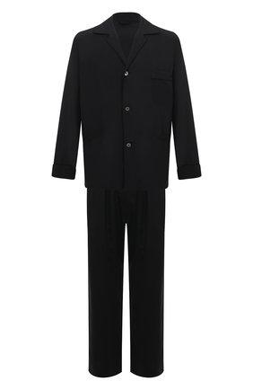 Мужская шелковая пижама BRIONI темно-синего цвета, арт. NBP30L/0943G   Фото 1 (Материал внешний: Шелк; Длина (брюки, джинсы): Стандартные; Рукава: Длинные; Длина (для топов): Стандартные; Кросс-КТ: домашняя одежда)