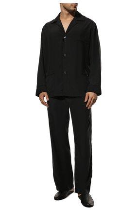 Мужская шелковая пижама BRIONI темно-синего цвета, арт. NBP30L/0943G | Фото 2