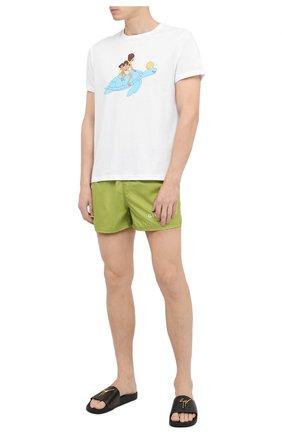 Мужская хлопковая футболка VILEBREQUIN белого цвета, арт. TAOU0P29/010   Фото 2