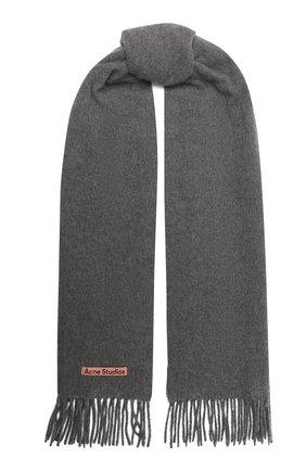 Мужской шерстяной шарф ACNE STUDIOS серого цвета, арт. CA0086/M | Фото 1