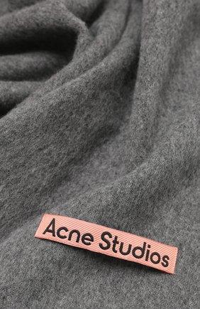 Мужской шерстяной шарф ACNE STUDIOS серого цвета, арт. CA0086/M   Фото 2
