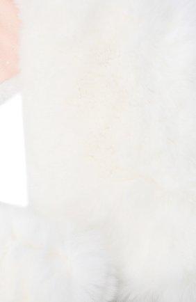 Детский меховой шарф YVES SALOMON ENFANT белого цвета, арт. 21WEA705XXREXX | Фото 2
