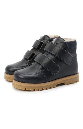 Детские кожаные ботинки PETIT NORD синего цвета, арт. 2536/28-35 | Фото 1