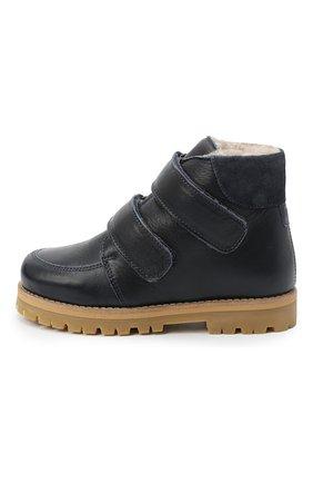 Детские кожаные ботинки PETIT NORD синего цвета, арт. 2536/28-35 | Фото 2