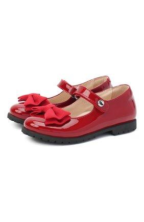 Детские кожаные туфли WALKEY красного цвета, арт. Y1A3-40884-0149/25-29 | Фото 1