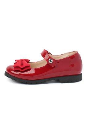 Детские кожаные туфли WALKEY красного цвета, арт. Y1A3-40884-0149/25-29 | Фото 2