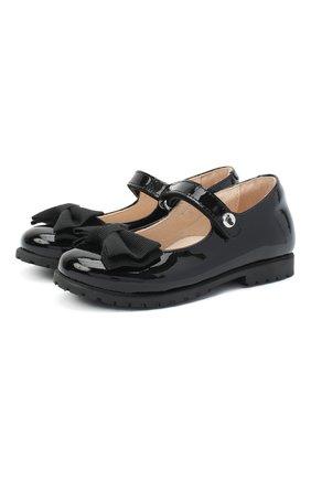 Детские кожаные туфли WALKEY черного цвета, арт. Y1A3-40884-0149/25-29 | Фото 1
